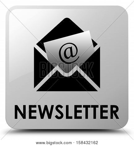 Newsletter (news feed icon) white square button