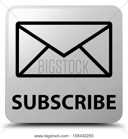Subscribe (email icon) on white square button