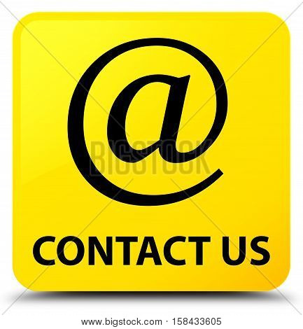 Contact Us (email Address Icon) Yellow Square Button