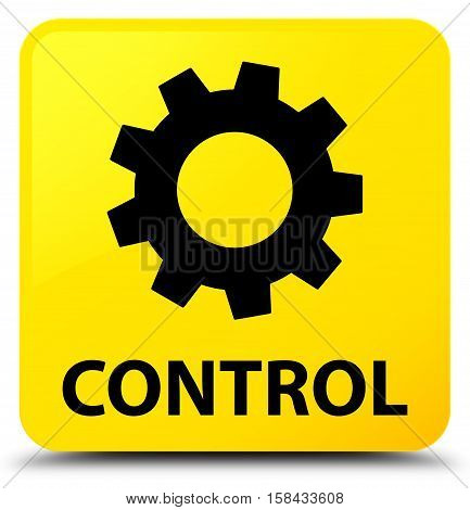 Control (settings icon) on yellow square button