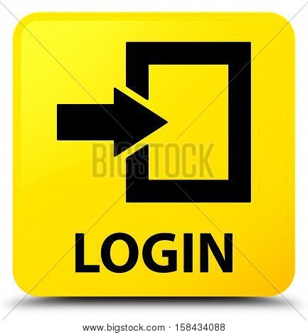 Login (arrow icon) on yellow square button