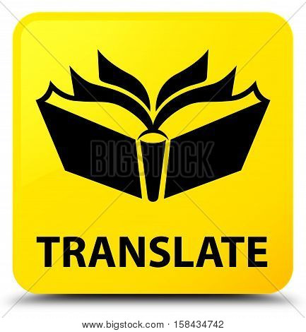 Translate (book and page icon) yellow square button
