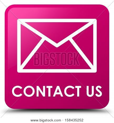 Contact Us (email Icon) Pink Square Button