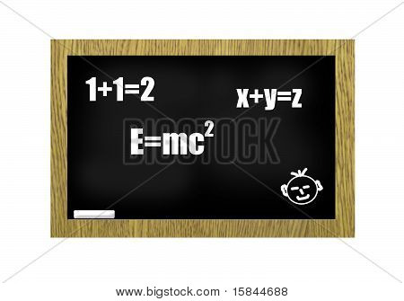 Blackboard With Scribbles
