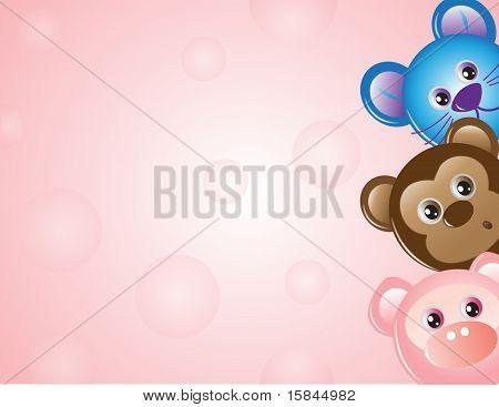 Animals Cartoon Texture