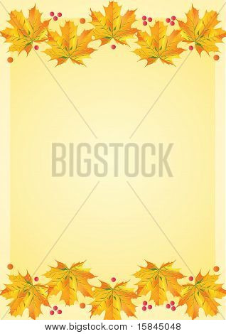 Autumn Leafs Template