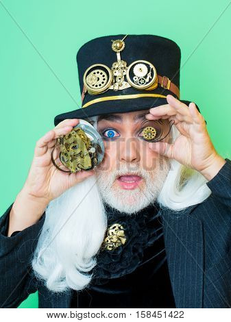 Surprised Bearded Man Or Watchmaker