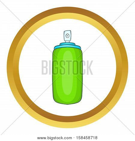 Air freshener vector icon in golden circle, cartoon style isolated on white background