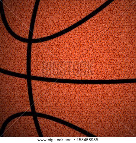 Orange/Brown Basketball close up background/texture vector illustration