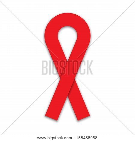 AIDS awareness red ribbon - World AIDS Day - vector illustration