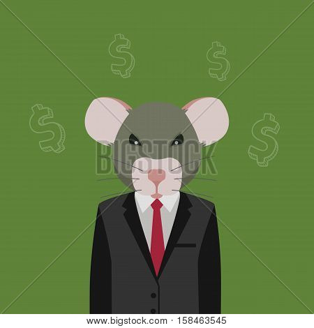 People With Rat Head. corrupt people illustration