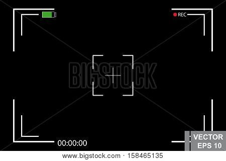 Template Focusing Screen Of The Camera. Photo And Video Shooting.