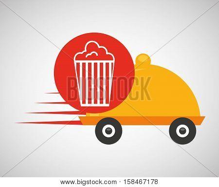 fast delivery food pop corn vector illustration eps 10