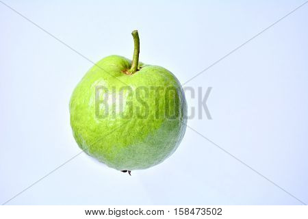 The fresh green guava fruit for healthy.
