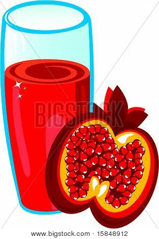 Pomegranate juice.