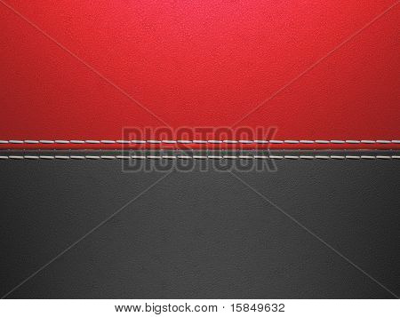 Red And Black Horizontal Stitched Leather Background