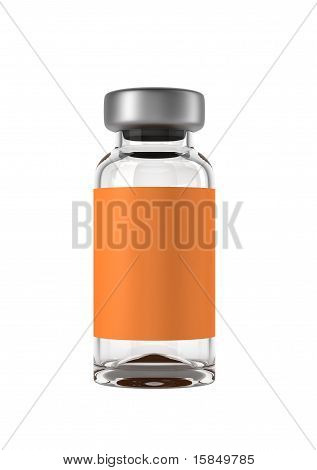 Single Medical Ampoule Isolated