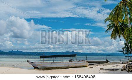 Fisherman Boat on Kri Island, Raja Ampat, Indonesia, West Papua