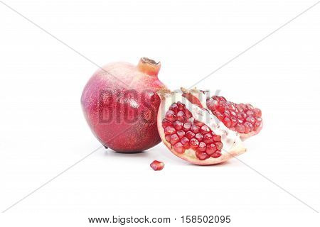 Pomegranate fruit isolated on a white background