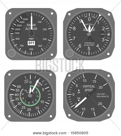 Aircraft instruments set #3