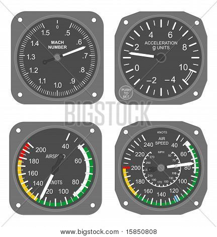 Aircraft instruments set #2