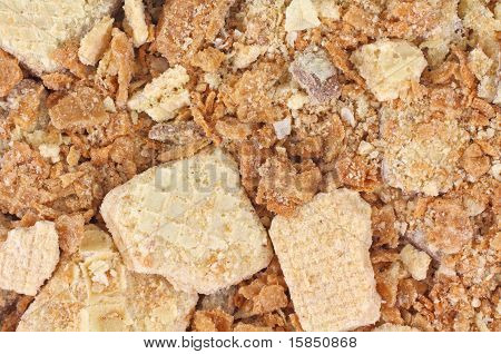 Close View Of Crushed Cookies