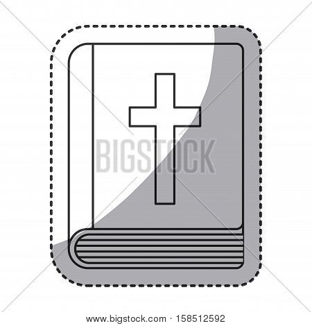 Bible icon. Religion god pray faith and believe theme. Isolated design. Vector illustration