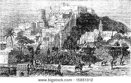 Algiers City Vintage Engraving. Capital Of Algeria.