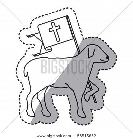 Sheep icon. Religion god pray faith and believe theme. Isolated design. Vector illustration