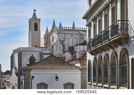 Igreja De Sao Francisco Church. Evora, Portugal.