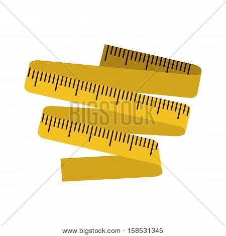 silhouette color with measuring tape vector illustration