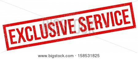 Exclusive Service Rubber Stamp