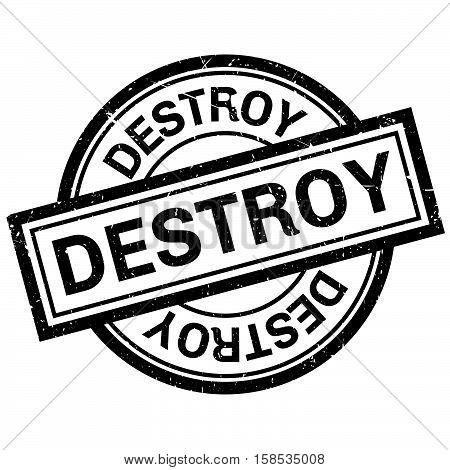 Destroy Rubber Stamp