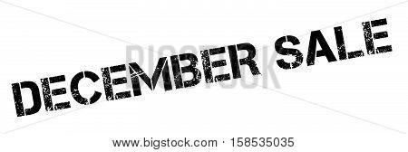 December Sale Rubber Stamp