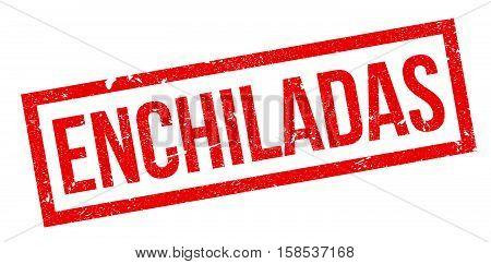 Enchiladas Rubber Stamp