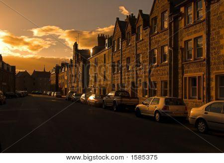 Scottish Town At Dawn