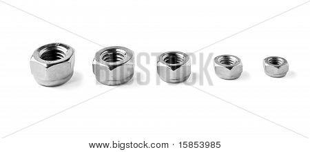 Nuts Arranged In Descending Order Size