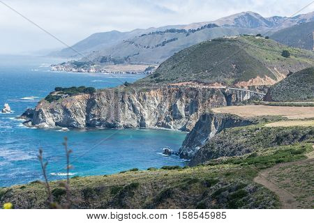 The coast of Big Sur along Highway 1, California