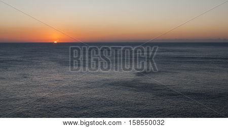 Sunset at  Capo Caccia (Alghero in Catalan and Cap de la Caça) is an imposing limestone promontory located north-western tip of Sardinia, which overlooks the bay of Alghero