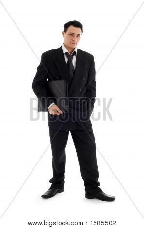 Businessman With Black Folder #3