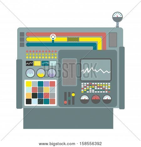 Industrial Machinery. Construction Equipment Factory. Panel Production Control System. Industrial Gr