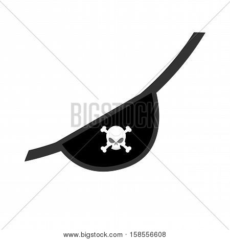 Eye Patch Isolated. Pirate Accessory. Skull Jolly Roger