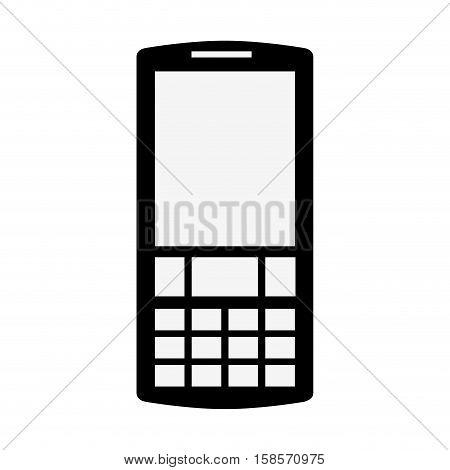black silhouette tech cellphone icon vector illustration