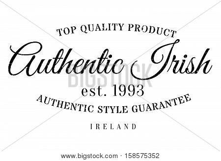Authentic Irish Product Stamp