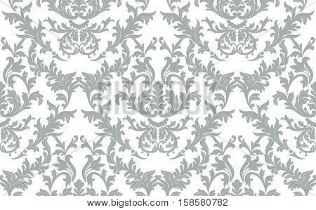 Vintage baroque ornament. Retro pattern antique style. Luxury old fashioned damask. Royal Victorian texture for wallpapers, textile, wrapping. Exquisite floral decor