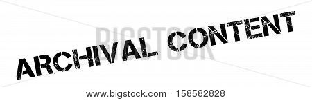 Archival Content Rubber Stamp