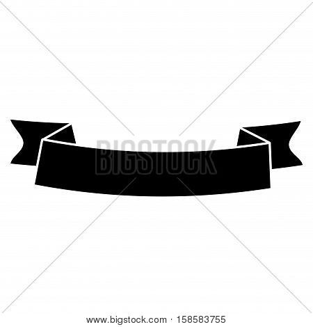 silhouette ribbon banner black empty design vector illustration eps 10