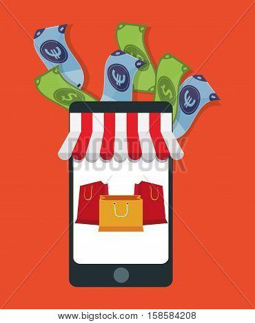 e-commerce shopping onilne presents vector illustration eps 10