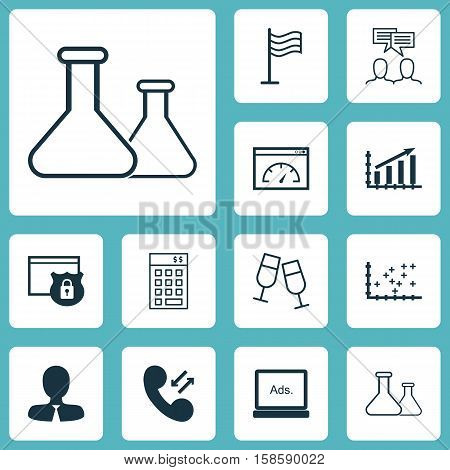 Set Of 12 Universal Editable Icons. Can Be Used For Web, Mobile And App Design. Includes Icons Such As Cellular Data, Champagne Glasses, Discussion And More.