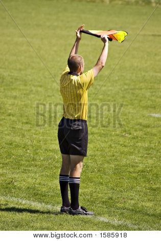 Soccer Official With Flag